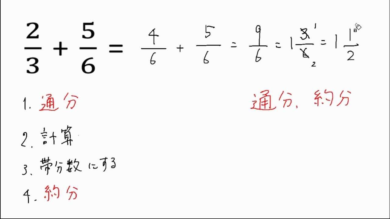 算数分数の足し算