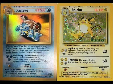 Unverifiable Pokemon Cards - PreRelease Raichu, Comic Sans Blastoise, Distributor Promos
