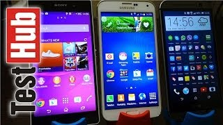 HTC ONE M8 vs Samsung Galaxy S5 vs SONY Xperia Z2