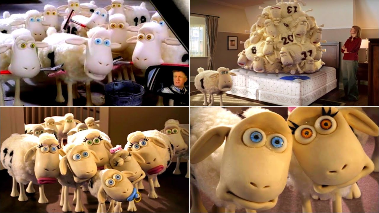 All Funniest SERTA Counting Sheep Classic Commercials |  Best Serta Mattress TV Commercials