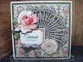 436.Cardmaking Project: Anna Griffin Fancy Fan Floral Card