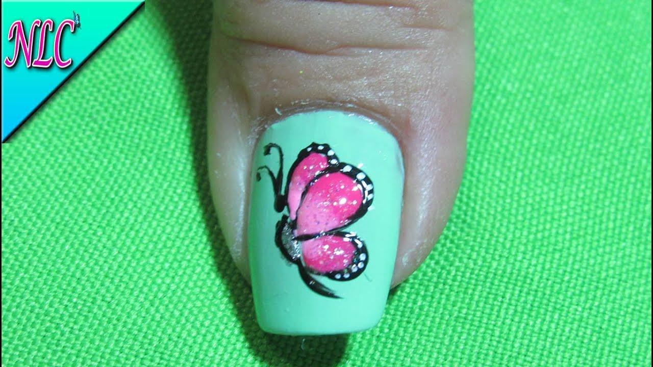 Magnífico Mariposas Arte De Uñas Adorno - Ideas de Pintar de Uñas ...