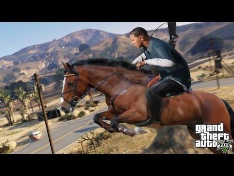 GTA 5: how to get a horse offline (parody)