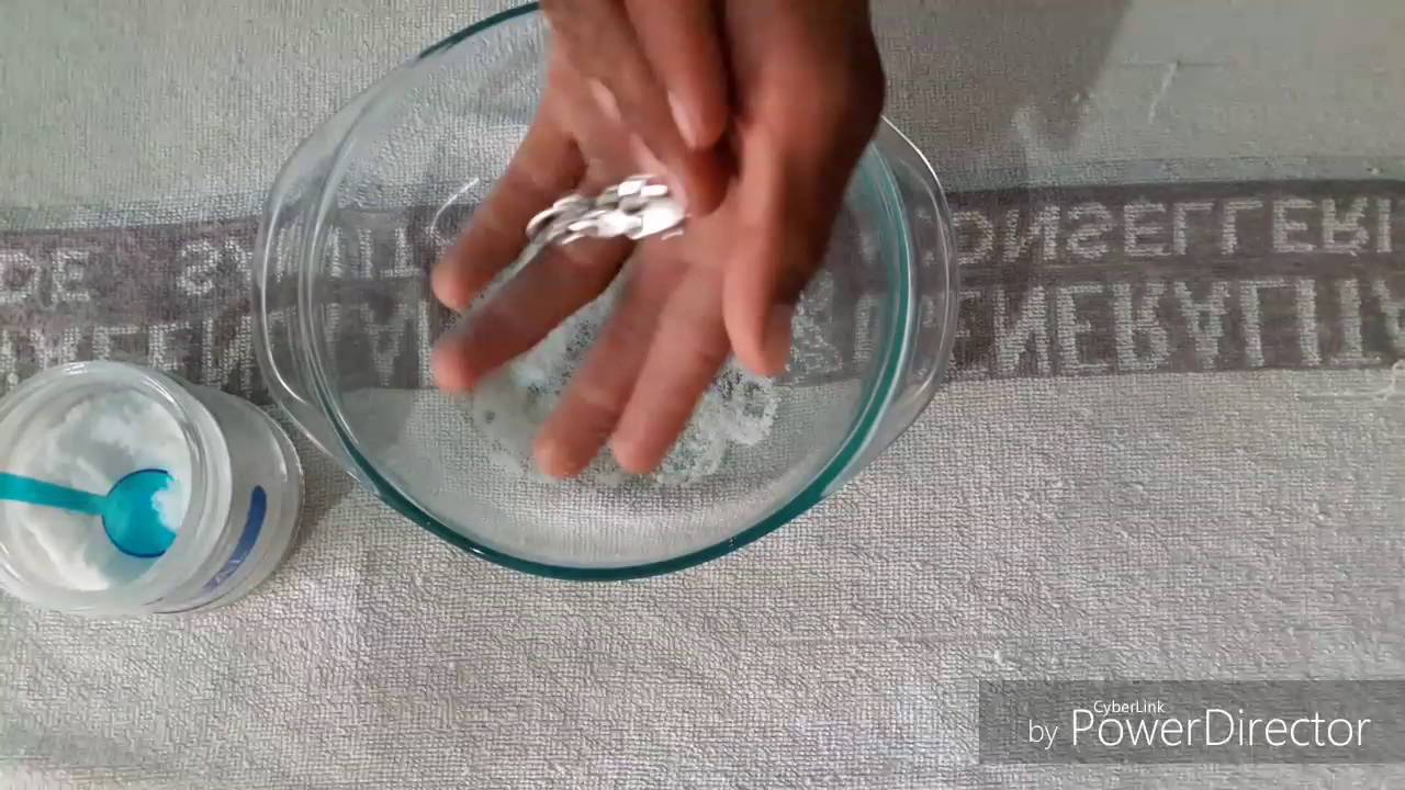 47fcd97281a4 Como limpiar cadena de plata sólo con sal - YouTube