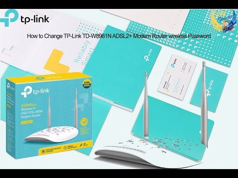 How To Change TP-Link TD-W8961N ADSL2+ Modem Router Wireless Password