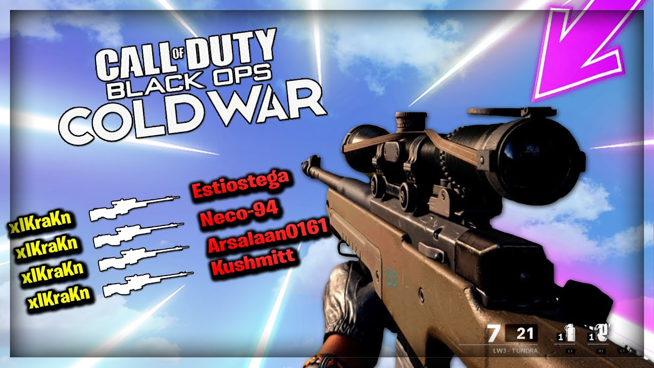 Call Of Duty : Cold War - Alpha Sniper Montage