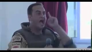 انفعال ضابط من القوات المسلحة اثناء لقائه بالفريق صدقي صبحي وزير الدفاع