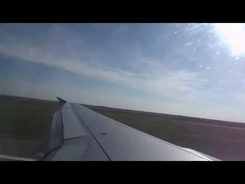 AirSERBIA A319 landing at Belgrade Nikola Tesla Airport
