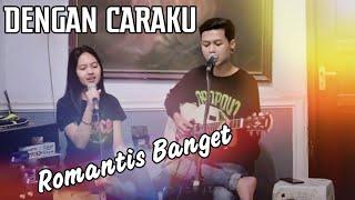 Gambar cover Dengan Caraku (Bricia Jodie ft Arsy Widianto) Cover Romantis Sabian Nanda ft Marcha Cantik