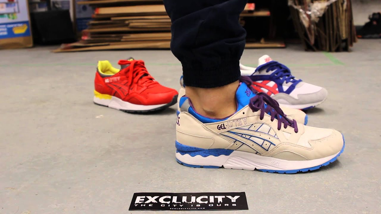 asics gel lyte 5 white blue