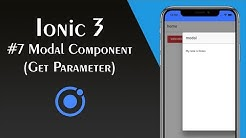 ionic 4 using modals via the modalcontroller - Free Music