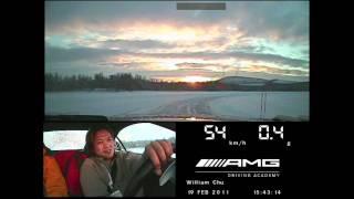 AMG提供瑞典試駕車內畫面