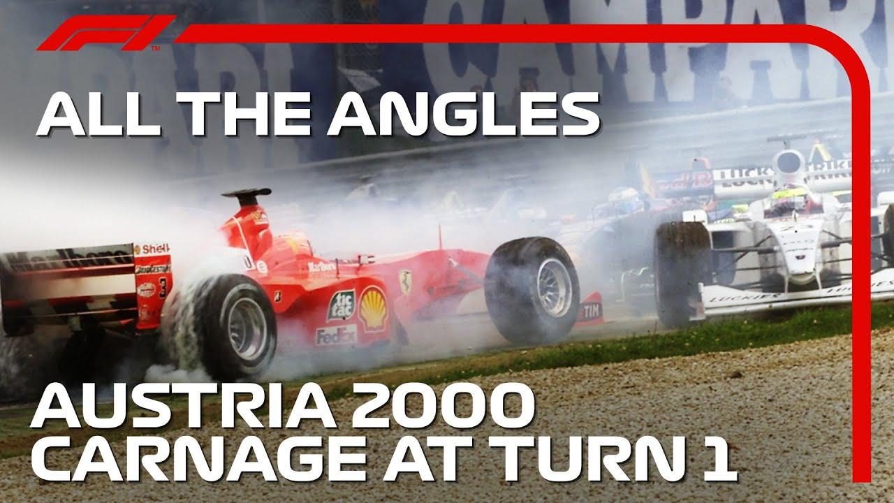 Mayhem At Turn 1! | All The Angles | 2000 Austrian Grand Prix