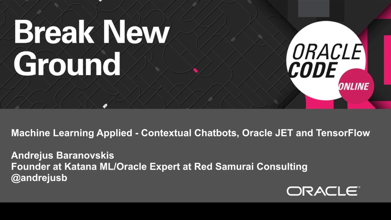Space: Machine Learning Applied Contextual Chat    | Oracle