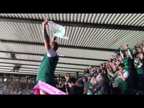 Sunshine on Leith - Upper Deck (May 2016) Hibs Fans