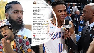 RUSSELL 20 20 20 FOR NIPSEY!!! THUNDER vs LAKERS HIGHLIGHTS