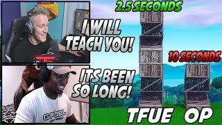 Tfue Was In TEARS After Teaching OPSCT How To BUILD/PLAY Fortnite Again! *10 Month Break*
