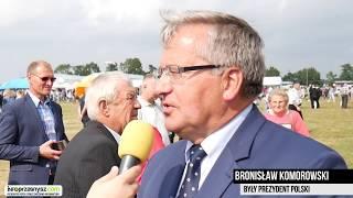 Prezydent Bronisław Komorowski o Dożynkach Wojewódzkich oraz Przasnyskiej Strefie Gospodarczej.