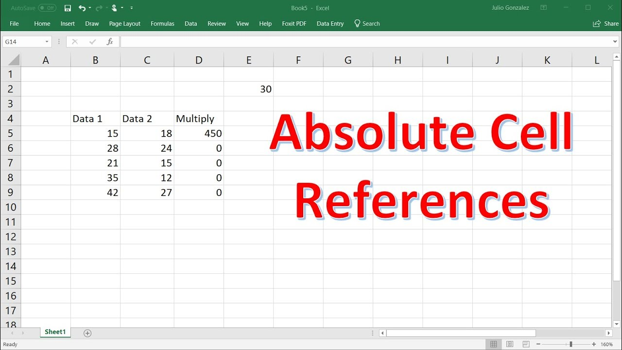 How To Use Relative & Absolute Cell References In Excel