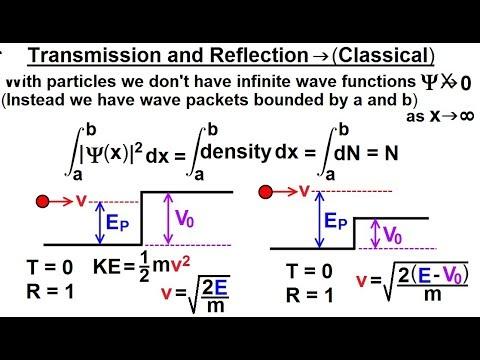 Physics - Ch 66 Ch 4 Quantum Mechanics: Schrodinger Eqn(63 of 92) Transmission vs Reflection-Classic