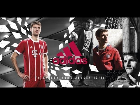 The adidas football 2017/2018 Bayern Munich Home Jersey