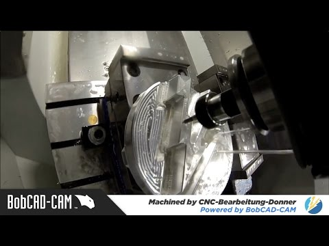 Machined by CNC Bearbeitung Donner | Made with BobCAD-CAM