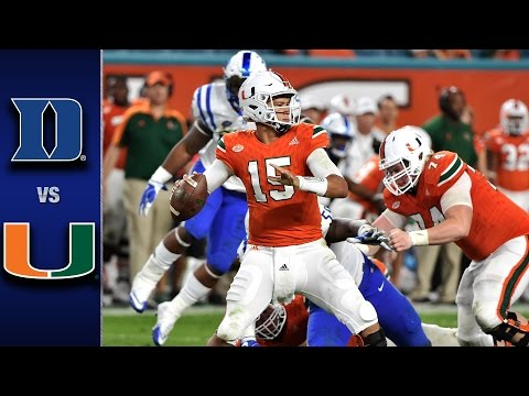 Duke vs. Miami Football Highlights (2016)