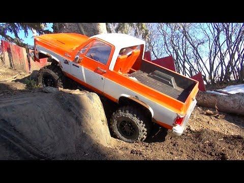 RC ADVENTURES - My 1976 Chevy K5 Blazer 4x4 (No Canopy) Crawling Backyard Trail Course
