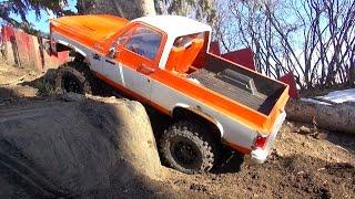 RC ADVENTURES - My 1976 Chevy K5 Blazer 4x4  Crawling Backyard Trail Course