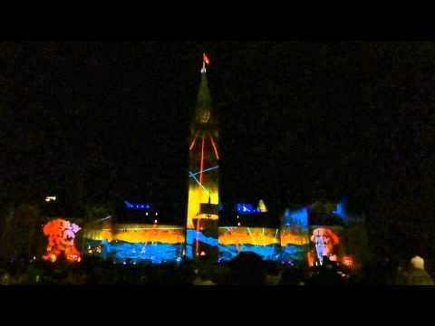 Ottawa, Ontario, Canada - Parliament Hill - Northern Lights: Sound and Light Show HD (2015)