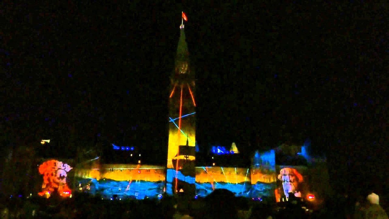 Ottawa Ontario Canada Parliament Hill Northern Lights Sound And Light Show Hd 2017
