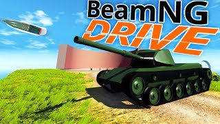 BeamNG Drive - A Real Tank!, Chickens & Modded Maps - BeamNG Drive Gameplay