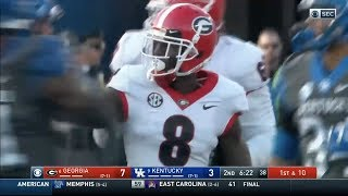 Riley Ridley (Georgia WR #8) Vs. Kentucky 2018