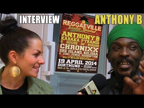 Interview with Anthony B @ Reggaeville Easter Special in Dortmund, Germany [April 19th 2014]