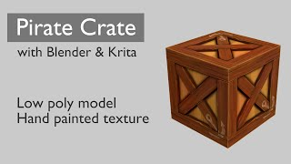 Creating a pirate crate with Blender and Krita