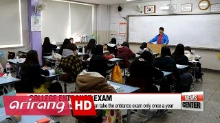 수능 한달전, 친구들과 최선을 다하는 수험생들 it's that time of the year again... when pressure is on nation's high school seniors and other college hopefuls. one month ...
