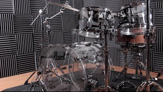 Pearl Drums Crystal Beat acrylic drum kit hands-on demo for Rhythm Magazine