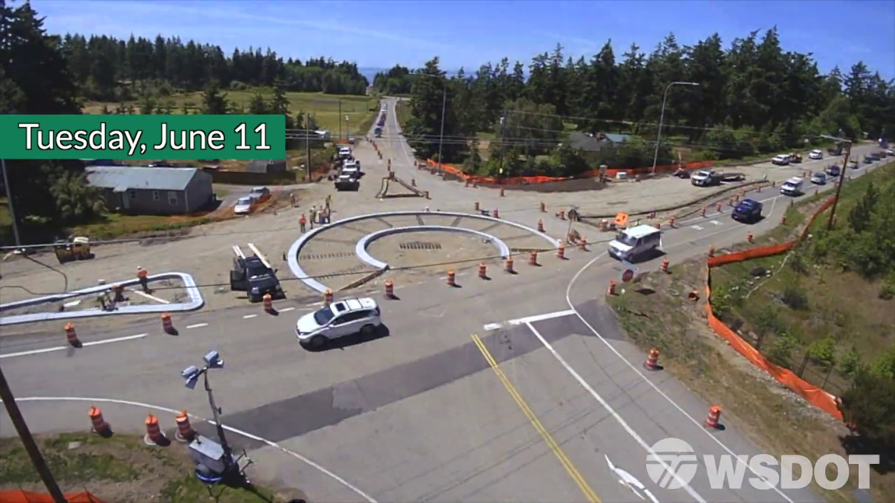 New roundabout opens on SR 20 near Naval Air Station Whidbey Island