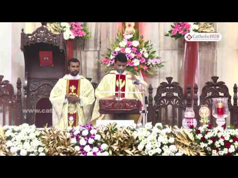 English Mass (Rev. Fr. Norman Bernard) @Sts Xavier's Cathedral, Bangalore, KA 04-12-16