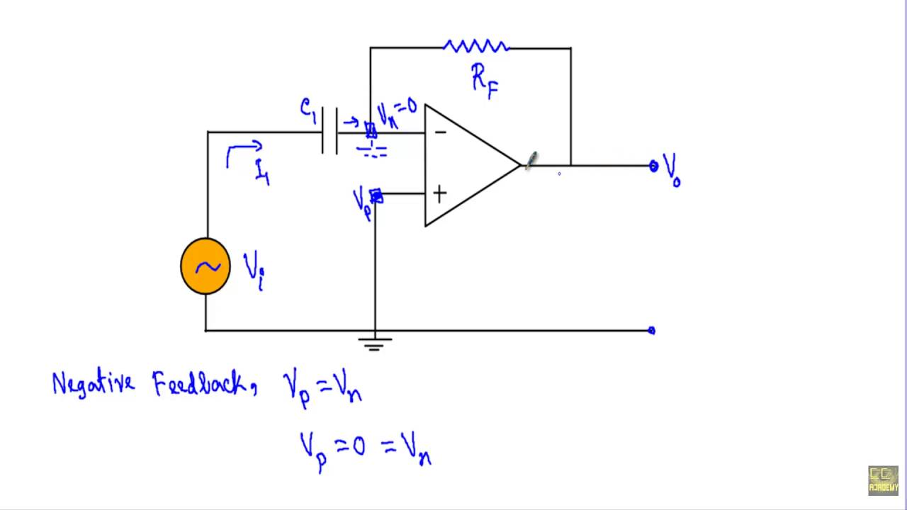 op-amp differentiator circuit  w subtitles