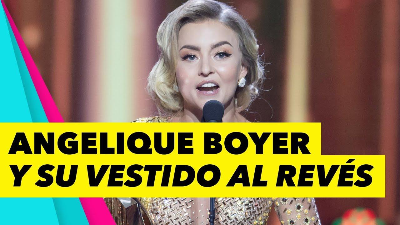 Angelique Boyer Admite Error Y Vestido Al Revés En Premios Tvynovelas 2019
