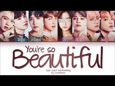 Free Download Bts (방탄소년단) – 「you're So Beautiful」 [8 Members Ver.] (color Coded Lyrics Han|rom|eng) Mp3 dan Mp4