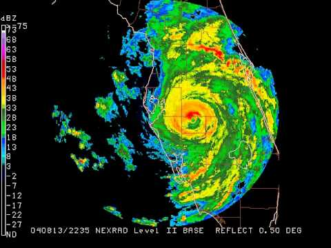 Hurricane Charley 2004 Port Charlotte Fl Landfall Youtube