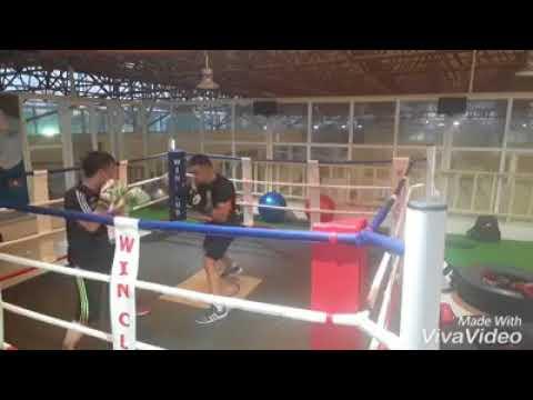 Light boxing sparring Hoàng Minh round 1