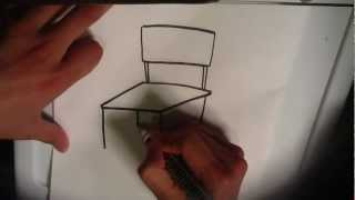 Easy Things To Draw -  How to Draw a Chair