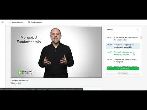 New to MongoDB University: Transcriptions