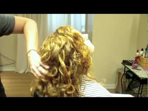 Hair Tutorial: Long Layer Haircut on Curly Wavy Hair