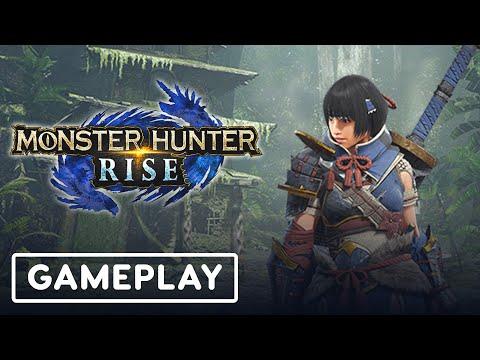 20 Minutes of Monster Hunter Rise Longsword Gameplay | TGS 2020