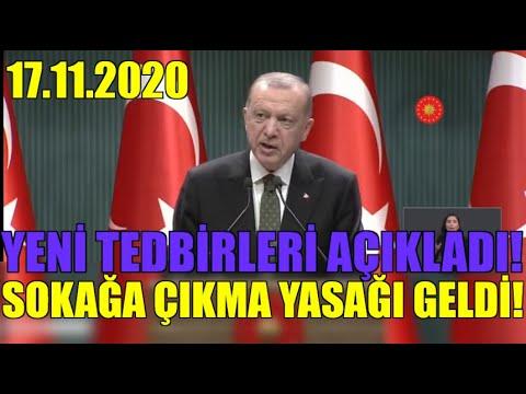 Erdoğan Yeni Tedbirleri Açıkladı. Sokağa Çıkma Yasağı GELİYOR!