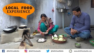 LOCAL food experience in Village Dhokraha - BEST Dahi Chura + Kele ka Kofta + Garai Machhi